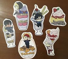 Yuri!! On Ice Parfait Stickers ~ Yummi!! On Ice