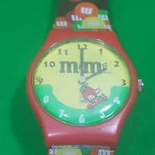 M&M's Character Advertising Watch Skate board Brown Red Timepiece Wrist
