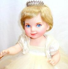 Princess Diana Jointed Porcelain Baby Doll Franklin Mint Precious in Pearls COA