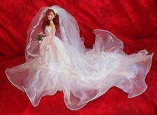 """BARBIE  DOLL  WEDDING   GOWN """"  WEDDING  #498""""   BY  EDE """" SALE!"""