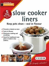 SLOW COOKER & CROCK POT LINERS 5 PACK. KEEP YOUR SLOW COOKER CLEAN