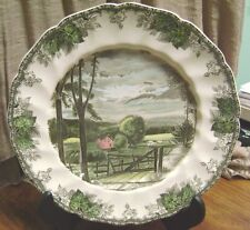 """JOHNSON BROS. """"THE HAYFIELD"""" THE FRIENDLY VILLIAGE ENGLAND 10 3/4 DINNER PLATE"""