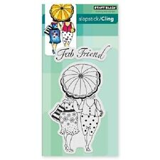 PENNY BLACK RUBBER STAMPS SLAPSTICK CLING BUTTERFLY DANCE NEW STAMP