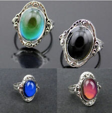 1pcs Mood Ring Adjustable Changing Color Temperature Control Jewelry Women