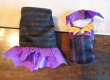 Monster High Create A  Vampire & Sea  BLACK Purple Halter Corset shirt  Skirt