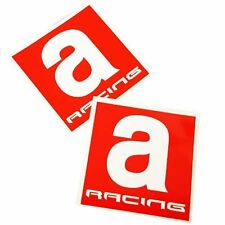 Aprilia A RACING Motorcycle graphics stickers decals 80mm x 2PCS Red & white