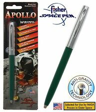 Fisher Space Pen #S251-Green Apollo Series Pen in Green & Chrome