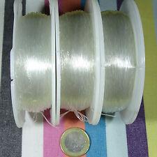 1 Bobina Filo Elastico da Silicone 0,6mm x 100 Metri Bigiotteria Rubber elastico
