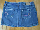 American Eagle Outfitters Size 4 Denim with Pink Rhinestones Mini Jean Skirt