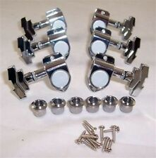 SET OF BUSH FIT 3X3 JINHO IMPERIAL STYLE GUITAR MACHINE HEADS/ CHROME