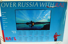 "AEROFLOT RUSSIAN INTERNATIONAL AIRLINES POSTER 1993 CALENDAR ""OVER RUSSIA RAL"""