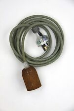 3m cloth fabric textile electrical cord 3wire aus/nz crt pendant rusted Lh plug