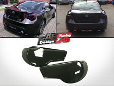 Black Smoked Acrylic Tail Light Cover 2pc For Toyota GT 86 Scion FR-S Subaru BRZ