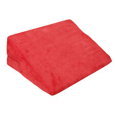 Couple Wedge Microfiber Cushion Foam Sex Pillow Position Aid Ramp Red Bolster %