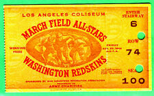 SUPER VINTAGE! 1944 WASH REDSKINS FOOTBALL TICKET STUB-GREAT GRAPHICS!