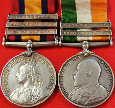 VINTAGE & RARE PRE WW1 BRITISH BOER WAR SERVICE MEDAL GROUP TOWNSEND WEST KENTS