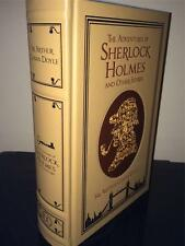 CONAN DOYLE ADVENTURES OF SHERLOCK HOLMES LEATHER BOUND HARDBACK BOOK