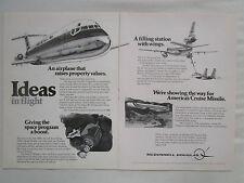 1/80 PUB MCDONNELL DOUGLAS DC-9 SUPER 80 KC-10A CRUISE MISSILE SPACE SHUTTLE AD