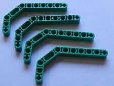 Lego 4 armatures vertes 3 cotes set 8479 8217 9780 /4 green liftarm double bent