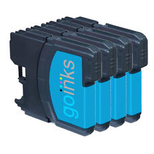 4 Cyan Ink Cartridges for Brother DCP-J125, DCP-J140W, DCP-J315W, DCP-J515W