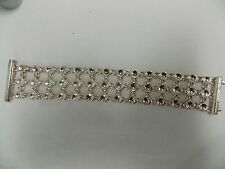 Robert Lee Morris Solid Circle and Circle Link Cuff Bracelet Sterling Silver