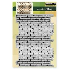 PENNY BLACK RUBBER STAMPS SLAPSTICK CLING BRICK WALL STAMP