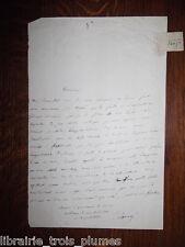 ✒ L.A.S. Ernest Legouvé écrivain poète Belle lettre à un critique - envoi livre