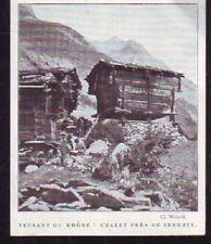 1928  --  SUISSE   CHALET PRES DE ZERMATT      W796