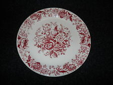 Taylor Smith Taylor Red  Transfer TST610 Bread  Plate Center Bouquet