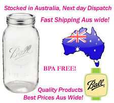 12 x Huge 2 Litre Ball Mason Half Gallon Jars Lids Preserving Canning Storage