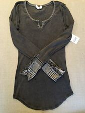 NWT Free People Kyoto Cuff Thermal Washed Black. Size S
