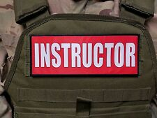 """3x8"""" INSTRUCTOR RED HOOK MORALE VEST PATCH POLICE MILITARY CONTRACTOR CHP CCW"""