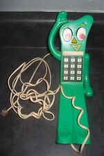 Vintage Gumby Telephone Original Prema Toy Co. Push Button Phone Unique w/ Cord