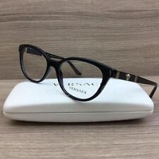 Versace VE 3219Q 3219-Q Eyeglasses Black with Black Leather GB1 Authentic 54mm