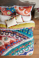 Hand Stitched Bedding Queen Flora Bedpread Quilt Anthropologie Comforter Throw