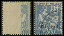 France Colonies 1906 LEVANT N°24, VARIETE Impression Recto-Vero, French colony