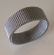 SUPERNOVA SCARVES Stainless Steel Mesh Scarf Ring Indie Mod Retro Scooter BNWT