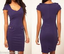 new Womens Casual Career Wear to work OL WIGGLE PENCIL A dress BODYCON S M L XL