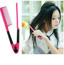Women Salon Hairdress DIY Hair Styling Hair Straightener Folding V Shape Comb