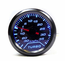 BR 52mm Universal Smoked Face Turbo Boost gauge 35 Psi Pressure white light