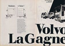Publicité Advertising 016 1985 Volvo camion le nouveau FL (2 pages)