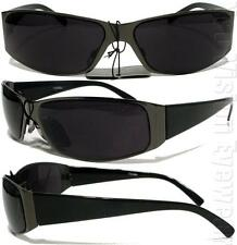 Cholo Gangster City Metal Wrap Sunglasses Super Dark LOC Style Gunmetal 28SD