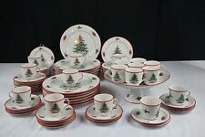 73 PCS SCHUMANN BARVARIA ARZBERG E&R CHRISTMAS TREE RED CHINA SET