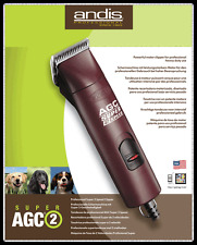 ANDIS AGC SUPER 2 velocità per Cani Pet Clipper con lama no10 Inc IVA & TRASPORTO UK