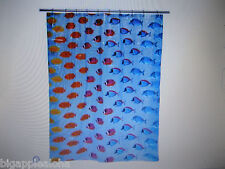 TROPICAL FISH 'KEY LARGO BLUE' SHOWER CURTAIN, 100% PEVA, NEW IN PACKAGE