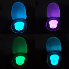 Human Motion Dection Sensor Automatic Seat LED Light Toilet Bowl 8Color