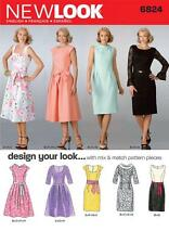 NEW LOOK SEWING PATTERN MISSES DESIGN YOU LOOK DRESS DRESSES SIZE 8 - 18 6824