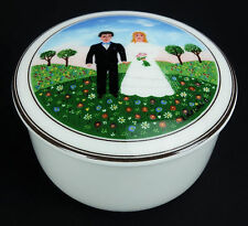 Villeroy & Boch Naif Wedding Small Trinket Box Bride Groom Retired