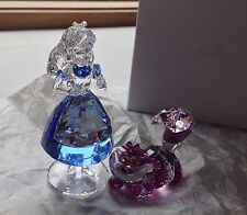 SWAROVSKI Crystal Figurine 2016 Disney's ALICE & CHESHIRE CAT