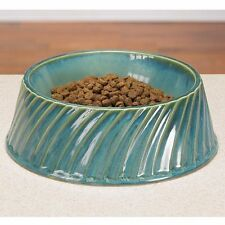 Pet Studio Greek Isles Ceramic Pet Dog Cat Feeder Bowl Dish Six Inch